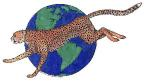 Hoagies cheetah across the world copyright Carolyn K. 1999-2005